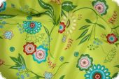 Cotton fabric with floral pattern, kiwi, ca. 140cm