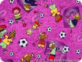 Leftover, Kids fabric, football kidz, violet, 140x210cm