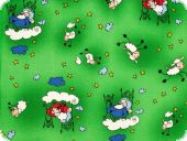 Nice cotton print, funny sheep, 140cm