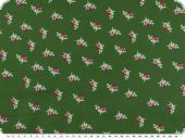 Nice cotton print, little flowers, middle green, 140cm