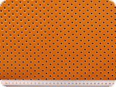 Nice cotton print, flowers, orange, 140cm