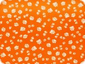 Children fabric,animal paws, orange-white, 140cn