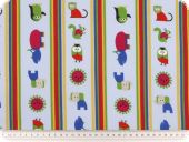 Children fabric, animals, light blue-multicolour, 140cm