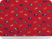 Children fabric, planes, red-multicolour, 140cm