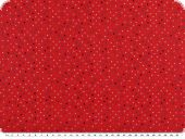 Children fabric, small dots, red-multicolor, 140cm
