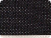 Children fabric, small dots, navy-multicolor, 140cm