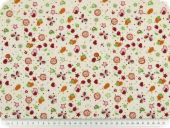 Children fabric, fruits, ecru-multicolor, 140cm