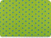 Cotton print, dots, green-blue, 140cm