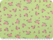 Nice cotton print, flowers, green,140cm