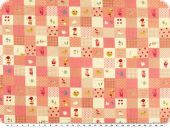 Children fabric, dolls and other themes, pink, 145cm