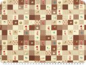 Children fabric, dolls and other themes, brown,  145cm