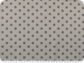 Cotton jersey for children, dots, light grey, 150cm