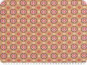 Cotton-Jersey, flowers, beige-petrol 150cm