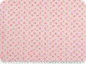 Cotton poplin, flowers, pink-braun-dark rose, 145cm