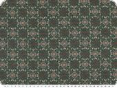Cotton flannel, flowers, green-berry, 140cm