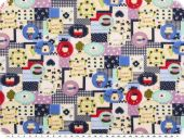 Cotton print, children fabric, multicolour, 140cm