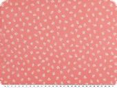 Cotton print, small flowers, rose-pink white, 145cm