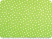 Cotton print, small flowers,  light green-white, 145cm