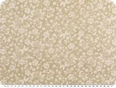 Cotton print, tendrils, beige-white, 145cm