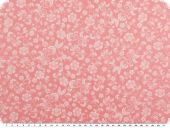 Cotton print, tendrils, rose pink-white, 145cm