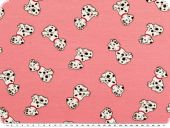 Cotton jersey for children, dogs, pink rose,150cm