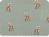 Cotton-Jersey, children fabric, fawns, grey, 150cm