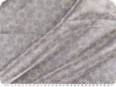Christmas fabric organza foildrops, white-gold, 145cm