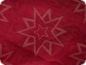 Leftover,Christmas fabric organza foildrops, red, 140x145cm