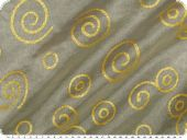 Christmas fabric organza drop, ecru-gold, 145cm