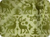 Christmas fabric, organza flocked, green,ca.140cm