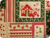 Festive christmas fabric, cotton-linen, ca. 160cm