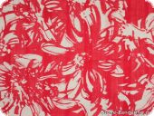 Summerly cotton fabric, flowers, red, 145cm