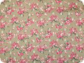 Floral cambric cotton, flowers, multicolour, 130cm