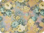 Blended cauterised fabric, flowers, multicolour, ca 140cm
