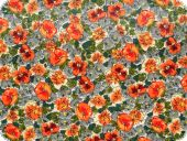 Multicolored  fabric with floral pattern, cotton, 140cm