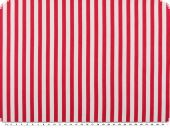 Fine twill fabric, stripes, pink-white, 150cm
