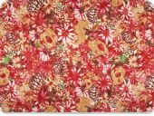 Cotton-polyester cauterised fabric, multicolour, 145cm