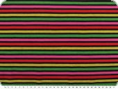 cotton knitted fabric, stripes, multicolour, 150cm
