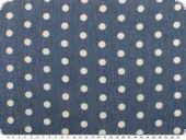 Cotton print. dots, blue-white, 148cm