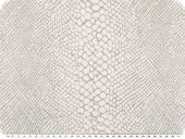 Cauterised fabric, cotton blend, reptile, white, 145cm