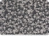Cotton-polyester fabric, small flowers, rust, 140cm