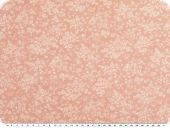 Cotton blended fabric, flowers, rose pink, 145cm