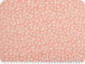 Cotton blended fabric, flower-print, blue-grey, 145cm