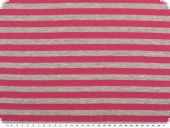 Cotton jersey, stripes, grey-pink, 150cm
