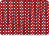 Viscose mousseline, 'grafic', red-blue-white, 150cm