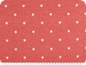 Viscose jersey, dots, red and white, 150cm