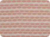 Jaquard knit, waves with lace pattern, antique pink