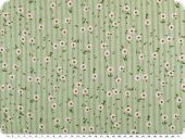 Cotton cauterised fabric ,flowers, light green, 145cm