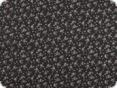Flower print, blended fabric, black, 145cm