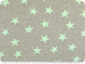 Sommer sweat with lurex stars, mint, 150cm